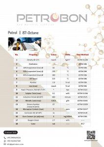 Petrol 87-Octane Datasheet