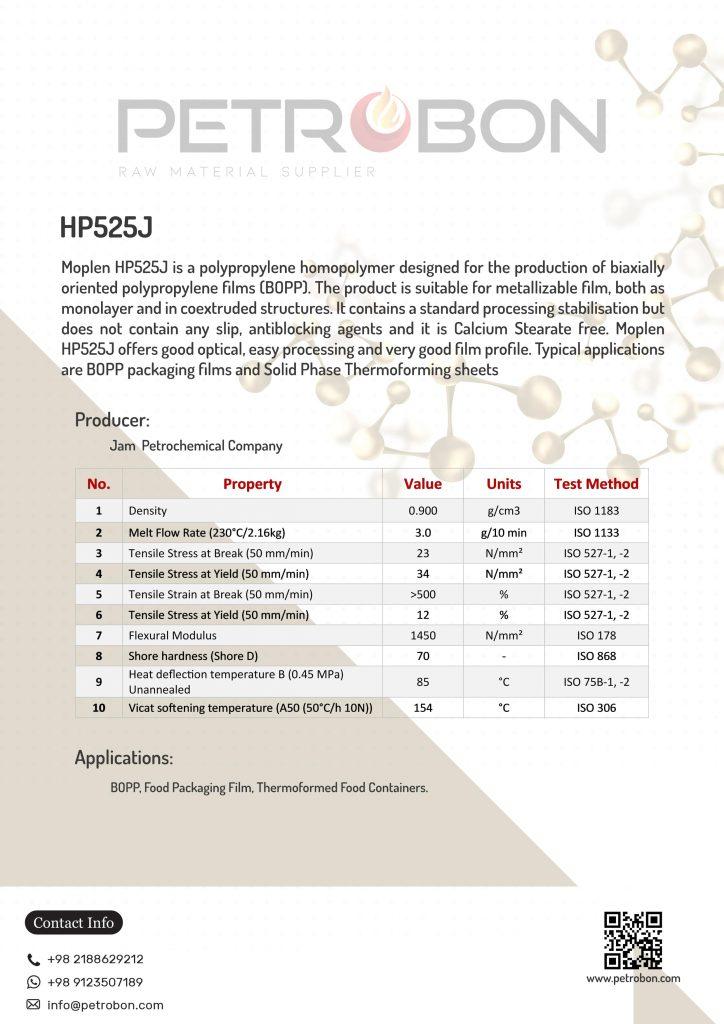 JAM Moplen HP525j Datasheet | www.petrobon.com